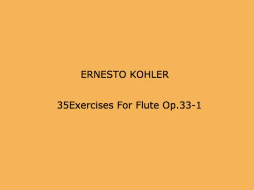 35Exercises For Flute Op.33-1を練習する
